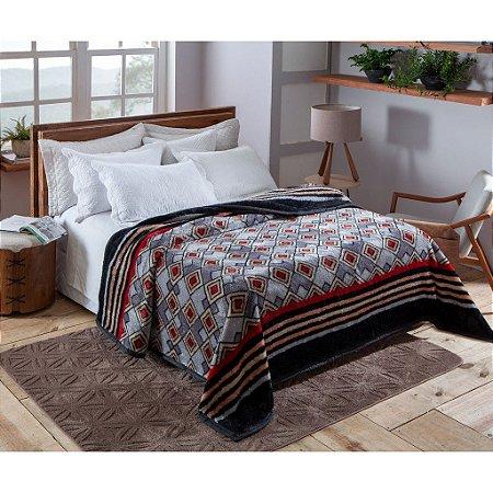 Cobertor Casal Pelo Alto Dyuri Jolitex Orinoco Cinza