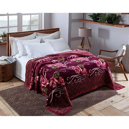 Cobertor Casal Pelo Alto Dyuri Jolitex Columbia Vinho