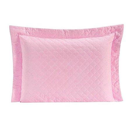 Porta Travesseiro Matelado Requinte Rosa
