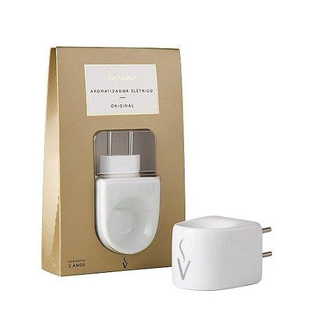 Aromatizador Elétrico de Porcelana Bivolt Via Aroma Branco