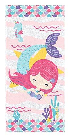 Toalha de Banho Infantil Lepper Oceano Colorido Turquesa