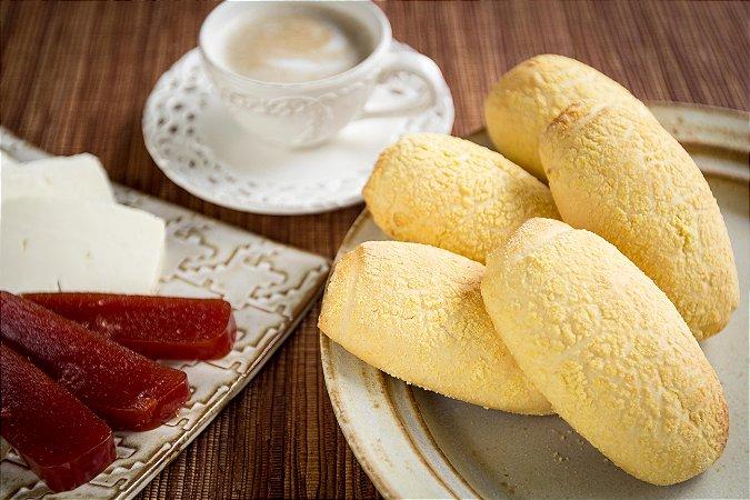 Pão de Milho Pré-assado e Congelado Via Pane - 3kg