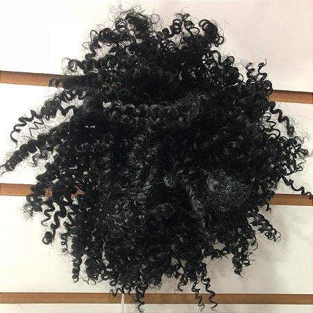 Coque afro puff preto
