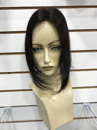 Prótese tic tac cabelo natural