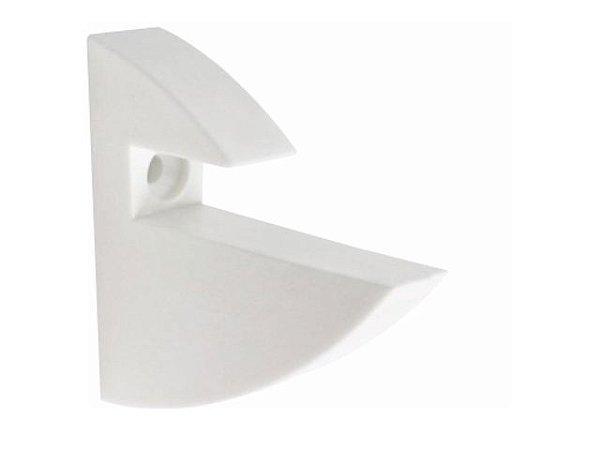 Suporte PVC para Prateleira 15 MM Branco c/ 10 Un