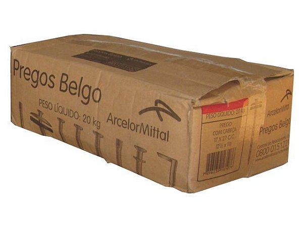 Prego Caixa Galvanizado 18x30 c/ 20 Kg Belgo