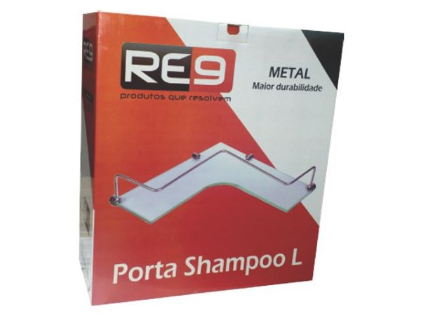 """Porta Shampoo Luxo 12x33x33 """"L"""" Re9"""