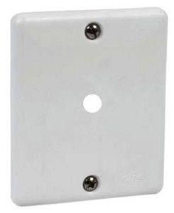 Placa Branca c/ 1 Furo