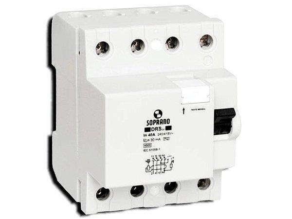 Interruptor DR Tetrapolar 4x63