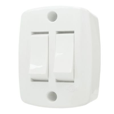 Interruptor Externo Quadrado 2 Tecla