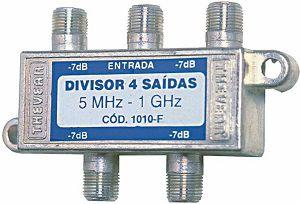 Divisor Antena c/ 4 Saídas c/ 10 pçs