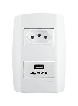 Tomada Slim 10A + USB