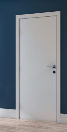 Kit Porta 70 cm Branco - Marco entre 19 e 21 cm