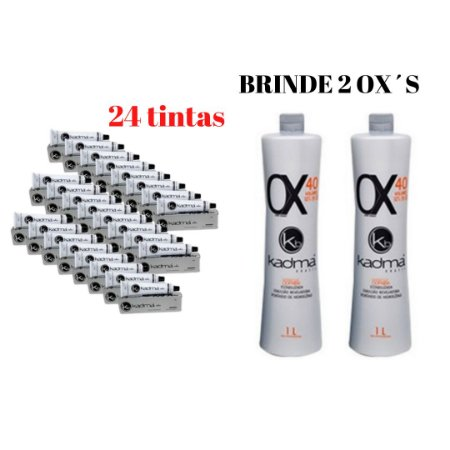 COMBO 24 colorações  (brinde 2 ox's)