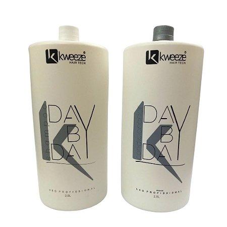 Kit Shampoo, Condicionador Day By Day Kadma Kweeze
