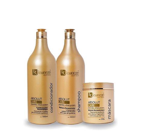 Kit Absolut Care (shampoo e condicionador 1 litro + máscara 500gr)