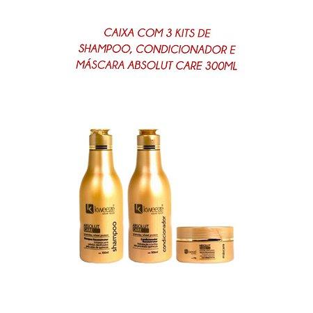 Caixa com 3 unidades de Kit Absolut Care 300ml