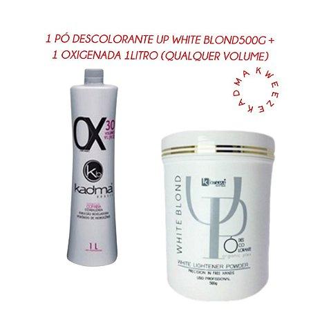Combo 1 Pó Descolorante UP White Blond 500g + 1 Ox