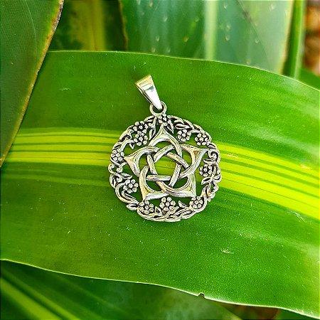 Pingente Mandala com Símbolo em Prata 925