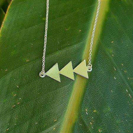 Pulseira Triângulos em Prata 925