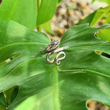 Anel Cobra em Prata 925 e Marcassita