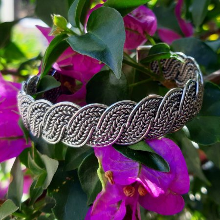 Bracelete Bali Trançado em Prata 925