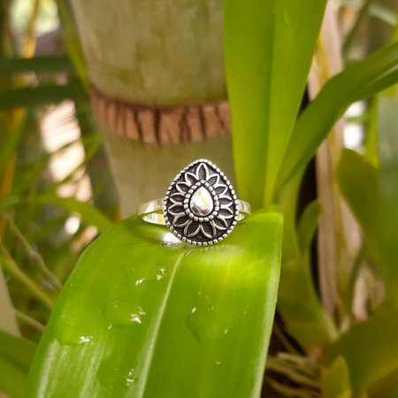 Anel Bali Gota em Prata 925