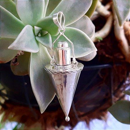 Pingente Perfumeiro em Prata 925 e Zircônia