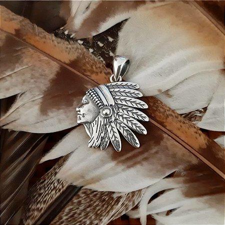 Pingente Índio em Prata 925