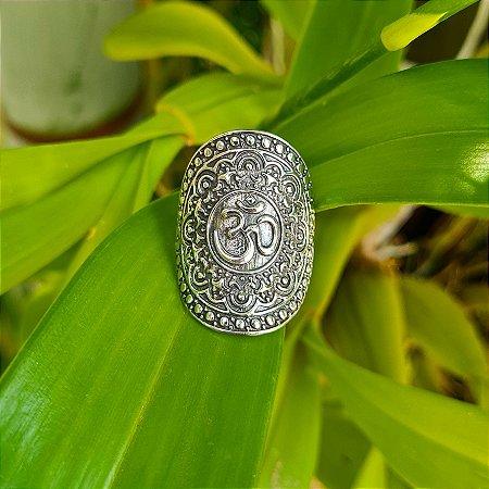 Anel Mandala com OM em Prata 925