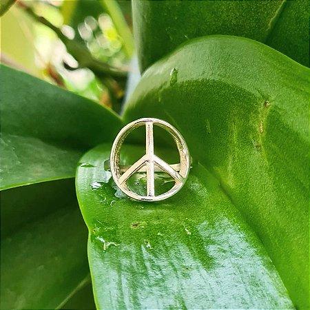 Anel Símbolo da Paz em Prata 925