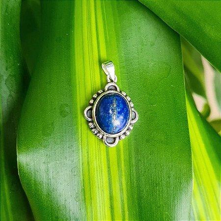 Pingente em Prata 925 e Lápis Lazuli