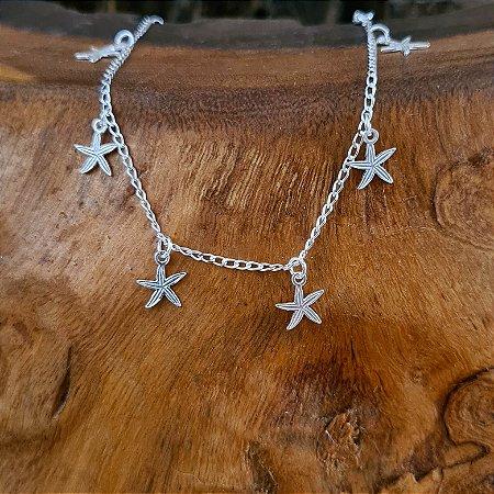 Pulseira com Penduricalhos Estrela do Mar em Prata 925