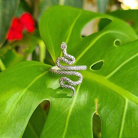 Anel Cobra em Prata 925