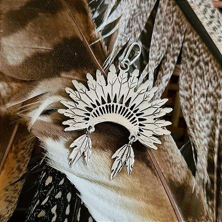 Pingente Cocar Articulado em Prata 925