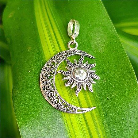 Pingente Sol e Lua em Prata 925