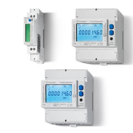 MEDIDOR DE ENERGIA 3F-80A/400V-60HZ - código FINDER: 7E.78.8.400.0112
