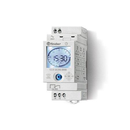 RELE PROGRAMADOR HORARIO ELETRONICO 127/230VAC C/ NFC - 12.51.8.230.0000