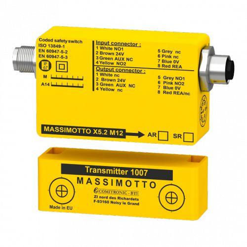 SENSOR DE SEGURANÇA Massimotto X5 M12 AR- Safety Switch for single or double-wing doors
