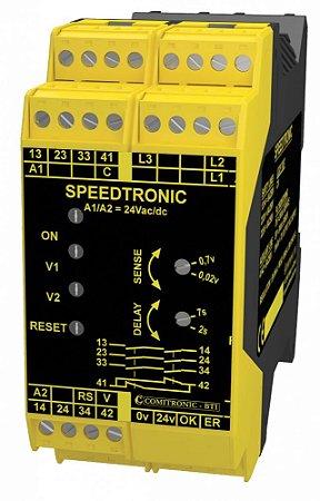 RELE ZERO SPEED PARA CONTROLE DE PARADA DE MOTORES  SPEEDTRONIC N - Controls the zero speed of motors with unlock control