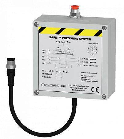 PRESSOSTATO / VACUOSTATO DE SEGURANÇA PS-NB - Membrane-Pression-CAT1-24ACDC 0.1/10 Bars
