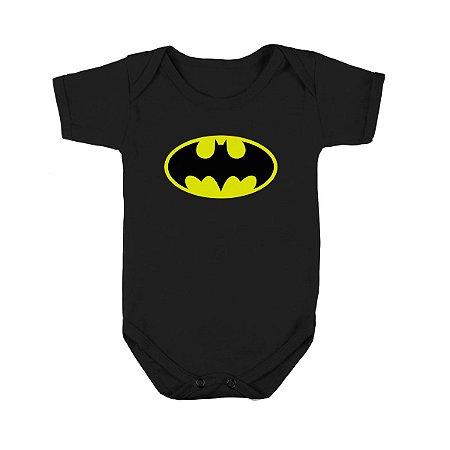 Body ou Camiseta infantil em algodão - Batman - Fabricaria - Body ... 8e0a5f4f211