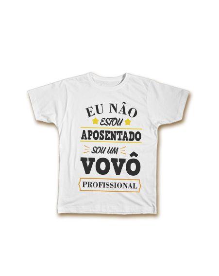 fc29bcb75c64e4 Camiseta Personalizada - Vovô Profissional