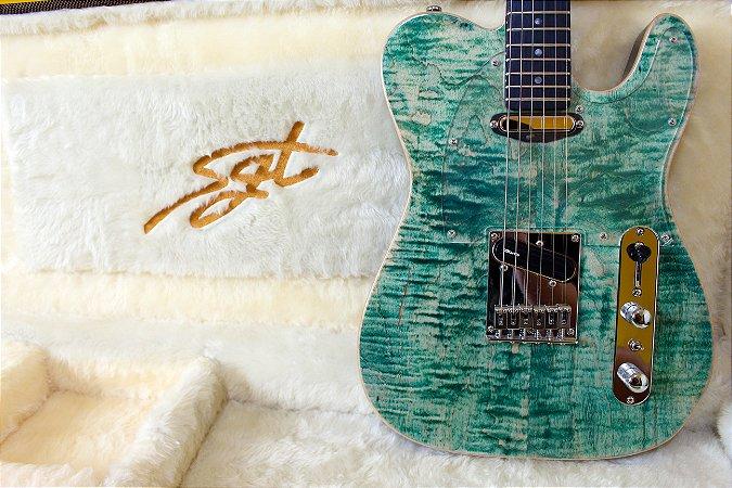Guitarra SGT TC Standard Aqua Blue Jeans - PRONTA ENTREGA
