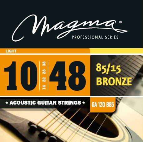 Encordoamento Violão Bronze 85/15 .010 Magma Ga120b85