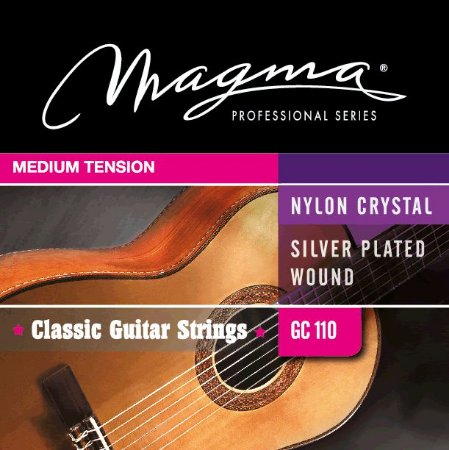 Encordoamento Violão Nylon Crystal Magma Gc110 Medium Tension