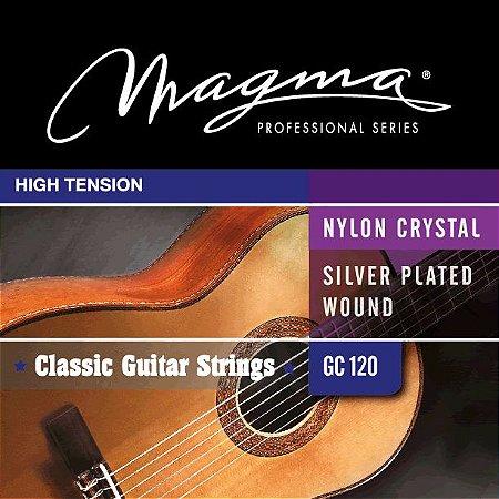 Encordoamento Violão Nylon Crystal Magma Gc120 High Tension