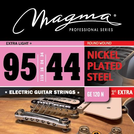 Encordoamento Guitarra Elétrica 0.9 Magma Ge120n Aço