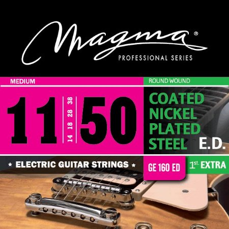 Encordoamento Guitarra Elétrica 0.11 Magma Ge160ed