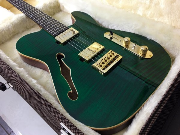 Guitarra SGT TC Thinline Custom Green Jeans - PRONTA ENTREGA